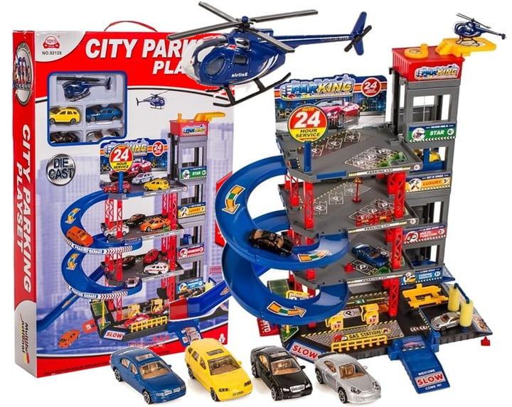 Image of PARKING - GARAŻ 4-piętrowy samochodowy - 4 auta + helikopter